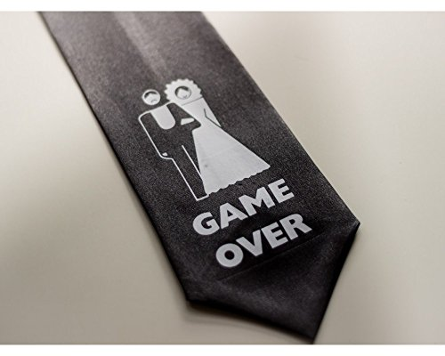 JGA Junggesellenabschied Krawatte GAME OVER Party Accessoire Schlips Polterabend