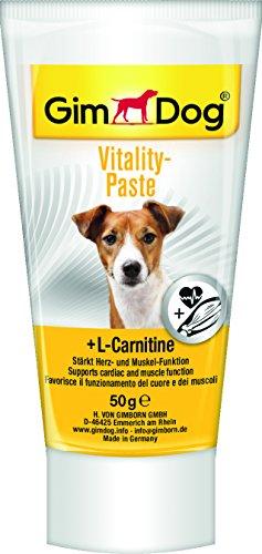 GimDog Vitality-Paste, Funktionaler Hundesnack mit L-Carnitin stärkt Herz und Muskelfunktion, Leckerlie ohne Zuckerzusatz, 1 Tube (1 x 50 g)