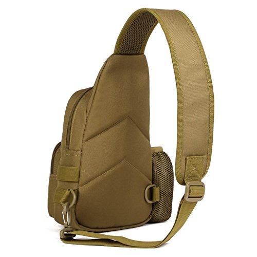Generic Wasserdicht Brusttasche für Radfahren, Wandern, Camping, Trekking, Bergsteigen, Klettern Braun