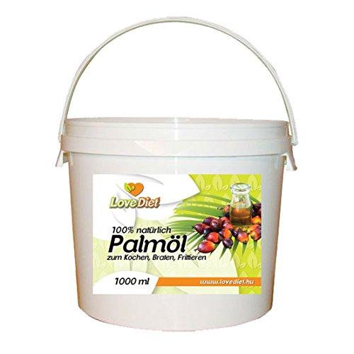 LoveDiet Palm Oil, Palmöl 1000 ml im praktischen Eimer
