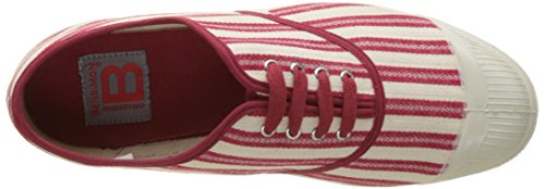 Bensimon - Tennis Lacet Rayures Transat, Basse Donna Rouge (Rouge)