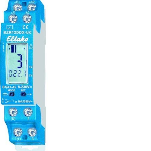 Eltako BZR12DDX-UC Digital einstellbarer Betriebsstunden-Impuls-Zähler