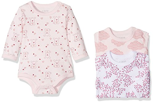 Care Baby-Mädchen Body 4132, 3er Pack, Mehrfarbig (Dusty Rose 505), 50