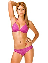 24brands Sexy Damen bandeau Push Up Zweiteiler Triangel Strand Bikini Pushup Neu Gr 36 38 40 42