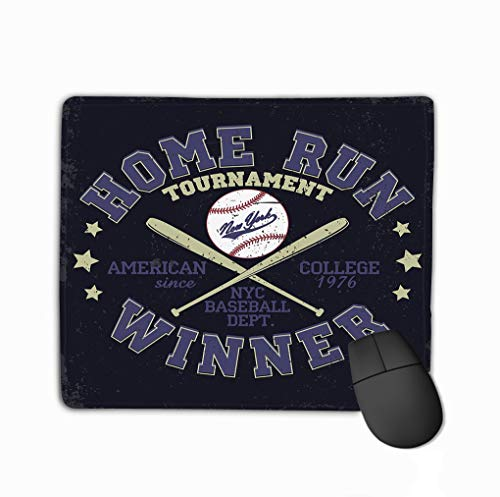 Mouse Pad Baseball Print Fashion Typography Stamp New York Sport Design Athletic Apparel usa original wear Rectangle Rubber Mousepad 11.81 X 9.84 Inch