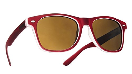 4sold Damen Herren Lesebrille Sonnenbrille +1.5 +2.0 +3.0 +4.0 Sun Readers Federn-Scharnier Perfekt für den Urlaub Retro Vintage Brille (Maroon, 1.50)