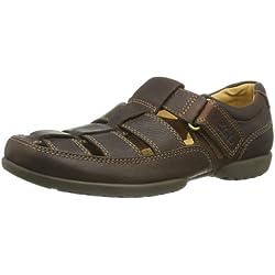 Clarks Recline Open 20348485 - Sandalias de cuero para hombre, color marrón, talla 46