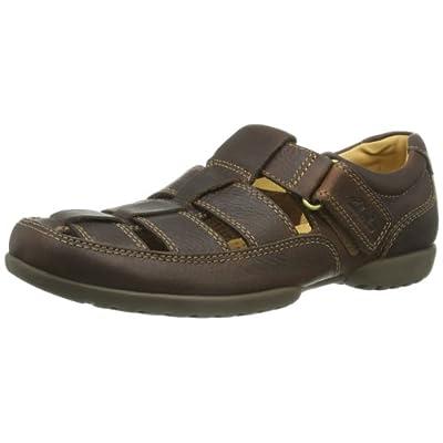 Clarks Recline Open 20348485 - Sandalias de cuero para hombre, color marrón, talla 44