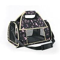ZZHH Portatile pieghevole cane gabbia dell'animale domestico borse borsetta . black