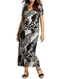 adonia mode Wadenlanges Sommerkleid Kleid Camouflage , Gr.42 - 46