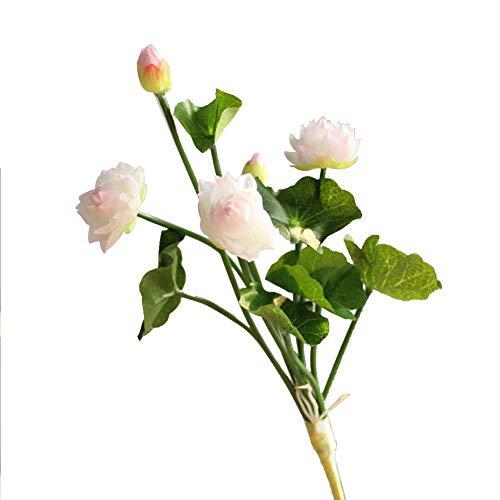 te Blumen,Künstliche Blume Deko Blumen Gefälschte Blumen Mini-Lotus Home Dekor Braut Hochzeitsblumenstrauß Für Haus Garten Party Blumenschmuck Ohne Blumentopf ()