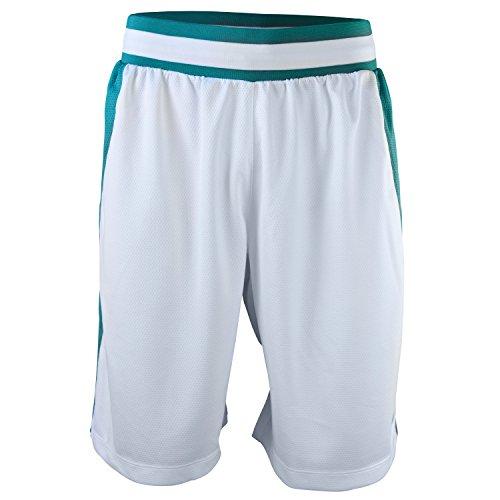 Nike Men's Basketball Shorts White-Mint Green