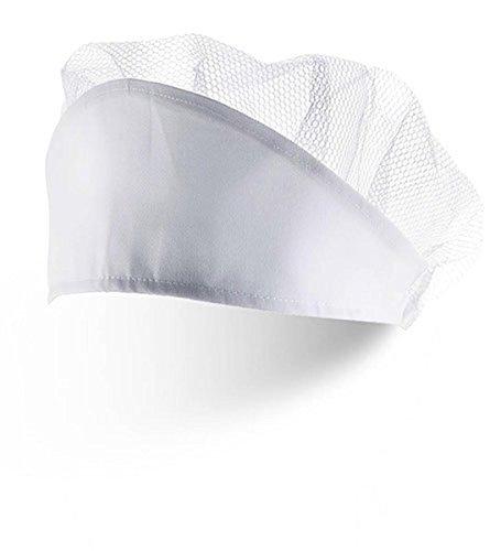 My Custom Style Cappello a Cuffia Bianco con Rete, in Poliestere Senza Stampa