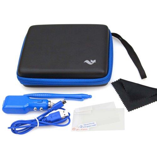 Pack accessoires de transport pour Nintendo 2DS - Bleu