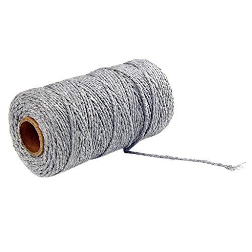 Coton Cordes pour Bricolage Collier Bracelet Craft Faisant, Cordon Naturel Fait Main pour Macramé à Faire, Coton Naturel Corde Bohême macramé Yard DIY Coton Cordon Macramé Cordon (N)