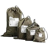 soraco coulisse borsa da viaggio impermeabile scarpe biancheria intima trucco Storage Pouch Borse organizzatori valigia set per viaggio vacanza campeggio ed escursioni (Confezione da 4–Multi-size Palestra Sacchetti), Coffe