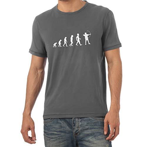 Texlab - Bogenschütze/Bogenschießen/Archer Evolution - Herren T-Shirt, Größe XL, grau