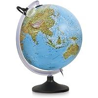 Nova Rico Esfera 30 cm. uranio mapa relieve c/luz