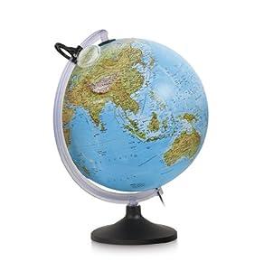 Nova Rico - Esfera 30 cm. uranio Mapa Relieve c/luz