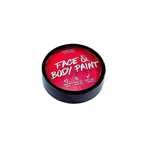 Flüssigkeiten & Spritzern Halloween Make Up Fancy Kleid Face & Body Paint–Rot 18g (Draculas Frau Kostüm)