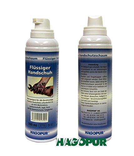 Flüssiger Handschuh - Flüssig Handschuh 200 ml idealer Schutz vor Öl Schmutz Lack Klebstoffe Harz Blut Schweiß Ruß Zement Farbe Chemie - Dermatologisch getestet Schutz bis zu 6 Stunden