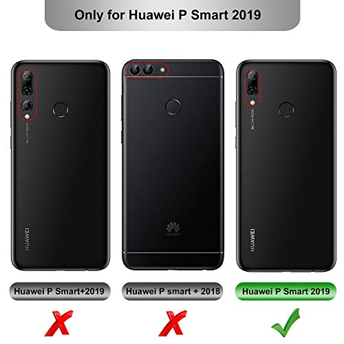 iBetter Coque pour Huawei P Smart 2019, Silicone Ultra Mince Solide, Durable, pour Huawei P Smart 2019 Smartphone. Bleu