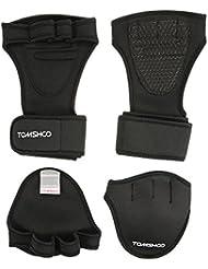 TOMSHOO Gants d'entraînement avec support poignet pour hommes et femmes protection de paume 2 en 1 enveloppement de poignet pour fitness