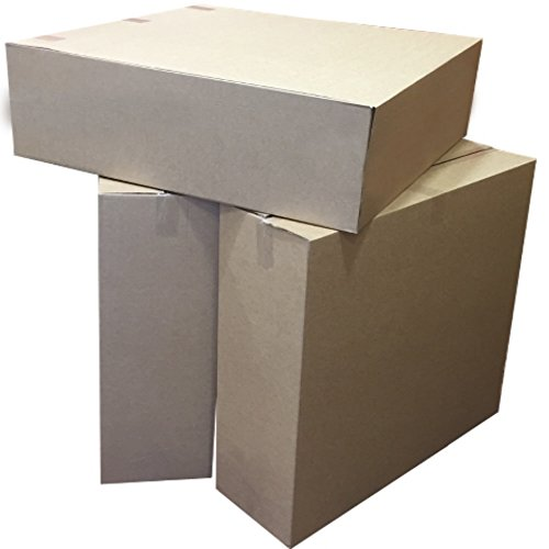 600 Extra Large Flat Brown Cardboard Packaging Boxes XL Size 32 x 10 x 32