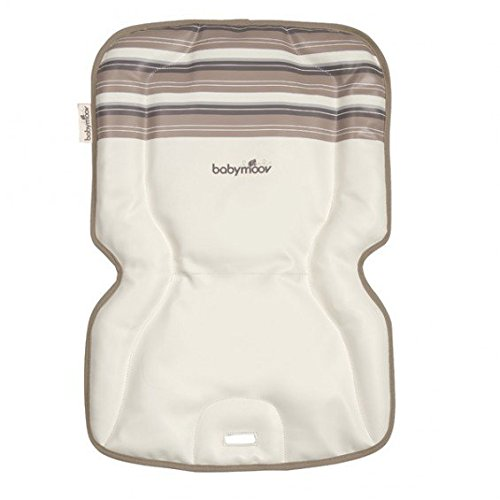Babymoov High Chair Comfort Cushion Ivory Stripy Design 411EQ4mu5KL