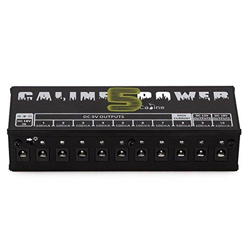 Paleo Caline CP-05 Guitar Effect Pedals Power Supply 8 Way DC 9V & 1 Way DC 12V & 1 Way 18V by Yongse