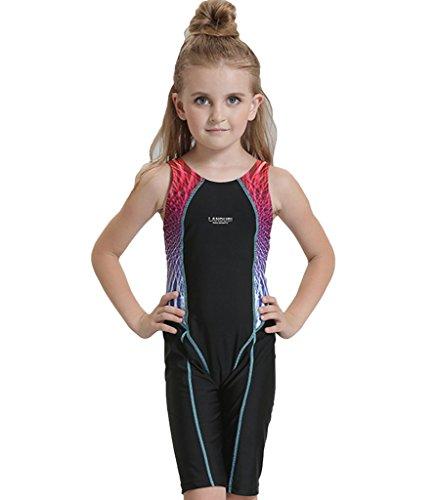 SWIWA Kinder Mädchen Einteiler Boyleg Schwimmanzug Badenmode Badeanzug mit Bein - Mädchen Badeanzug Bein