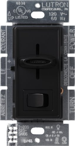 Lutron SCL-153P-BL Skylark CL 150-wattS CFL/LED/Incandescent Dimmer, Black by Lutron (Electronic-led-dimmer Lutron)