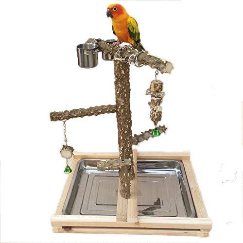 Alimentador de Aves Bird Soporte de Madera de Escalada Banco Loro Juegos Área de Juegos adecuados for...