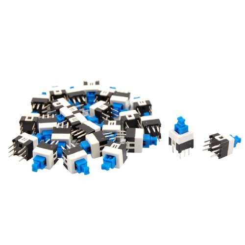 Sourcingmap® 40pcs 7X 7mm PCB Momentary Push Button Tact Taktile Schalter Non-Lock 6-Pin DIP de -