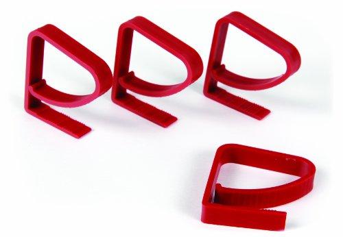 Camco 44003 Tischdeckenklammern für Caravan, Rot, 4 St…   00014717440035