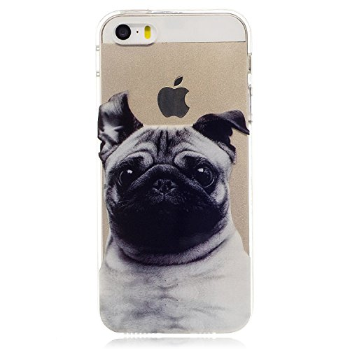 iPhone 5 Hülle, Voguecase Silikon Schutzhülle / Case / Cover / Hülle / TPU Gel Skin für Apple iPhone 5 5G 5S SE(Fashion Girl 07) + Gratis Universal Eingabestift Shar Pei 05