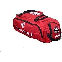 """CW """"TeamPak deporte Cricket Kit rojo"""" con Heavy Duty Ruedas, grandes, grandes profesionales deportes Durable gamuza cosido rojo kit para equipo de club, Academia, Partidos y práctica, Set de entrenamiento para hombre"""