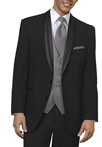 Suit Me classiche da Uomo Abito 3 pezzi proUomo Abitoade di nozze smoking Suit del partito Giacche Pantaloni nero-2pcs