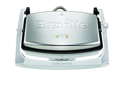 Breville DuraCeramic VST071X Sandwichera de tamaño Mediano con Revestimiento, 1000 W, INOX width=