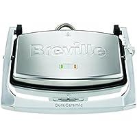 Breville VST071X - Sandwichera tipo panini con revestimiento DuraCeramic