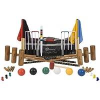 Übergames - Set da croquet per 6 giocatori, in legno