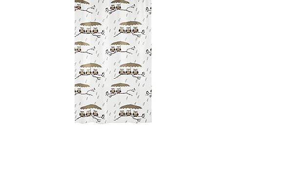PVC 20x20x5 cm Kleine Wolke Eule Tapis de Douche Hibou 55x55 cm en Taupe