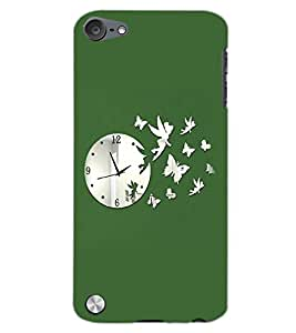 APPLE IPOD TOUCH 5 CLOCK Back Cover by PRINTSWAG