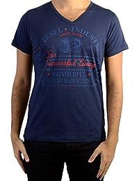 Diesel - T-Shirt Hommes Col Rond en V Mosele