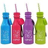 """Lote de 12 Botellas Pvc""""Enjoy"""" - Ideales para Detalles para Bodas, Regalos para Fiestas de Cumpleaños y Comuniones Niños y Ni"""
