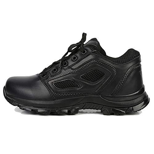 Herren Low Top Schuhe Taktische Stiefel Lederstiefel Sommer Wanderschuhe Special Forces Boot Trainer Berg rutschfeste Schuhe,Black-45 -