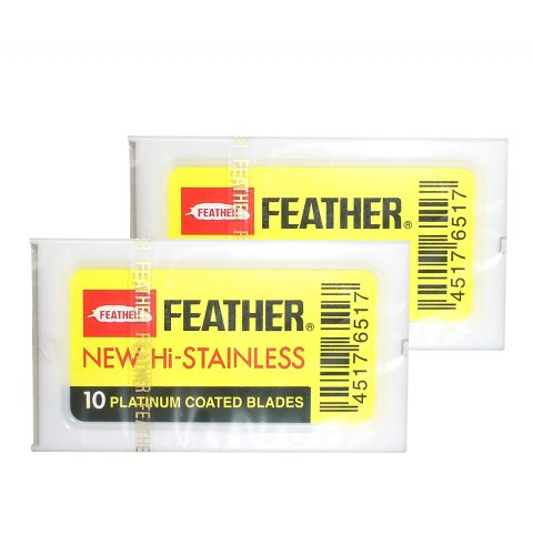 Feather New HI-Stainless FH-10 - 2X im 10er Pack (Blades Feather 10 Razor)