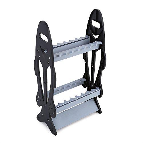Caredy Angelrutenhalter, Rutenständer Angelruten Ausstellungsstand ,16 Ruten Perfekte Angelrutenhalter Ständer Organizer Rack für leichte Arten von Angelruten