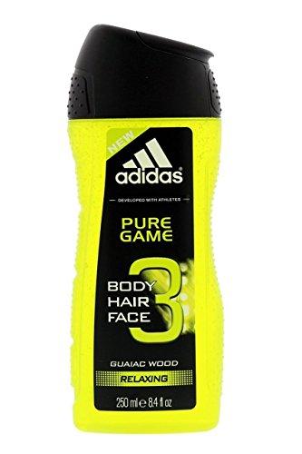 3x Adidas Showergel 250 ml Pure Game Duschgel von Adidas Shower Gel
