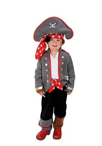 Captain Planet Kostüm - Pirat Kinder Kostüm 98 - 104 für Fasching Karneval Rummelpott